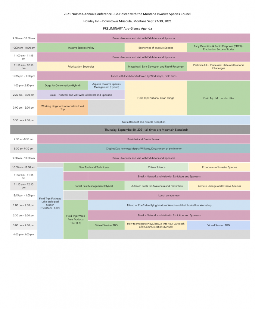 NAISMA 2021 Conference At a Glance Agenda-2